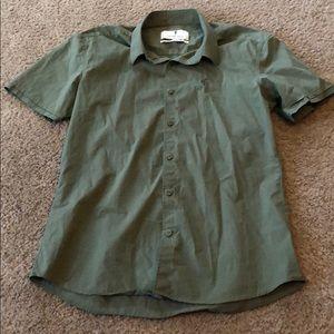 Slim fit button down dress shirt
